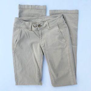 3 for $25-American Eagle Tan Kick Boot Pants